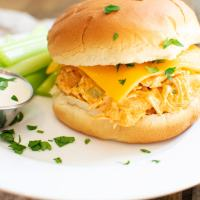 Instant Pot Buffalo Chicken Sandwiches