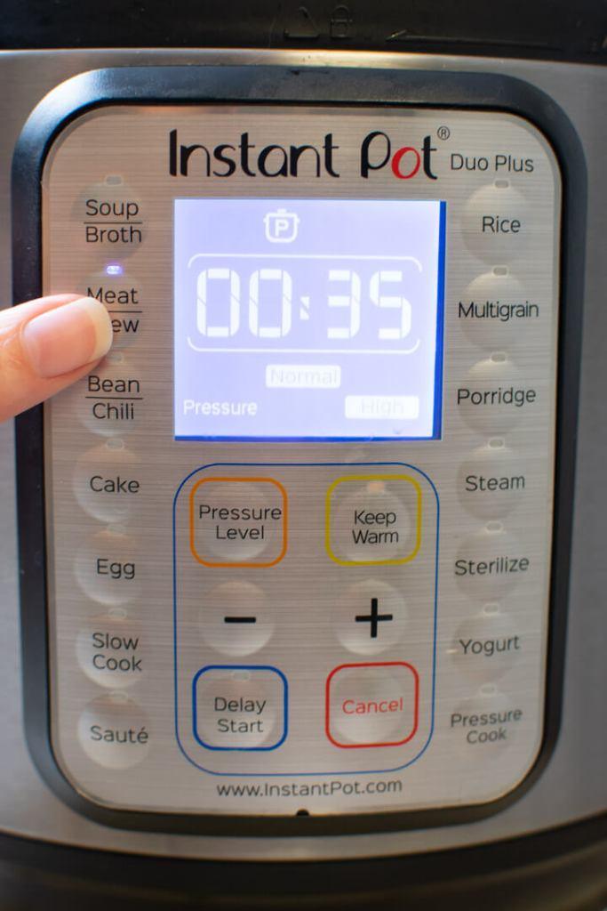 Meat setting on Instant Pot