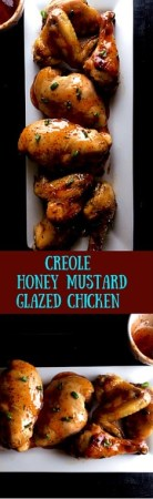 Try chicken a whole new way with this Creole Honey Mustard Glazed Chicken from A Sprinkling of Cayenne. http://asprinklingofcayenne.com/creole-honey-mustard-glazed-chicken/