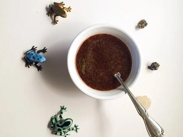 frogs around honey mustard dipping sauce