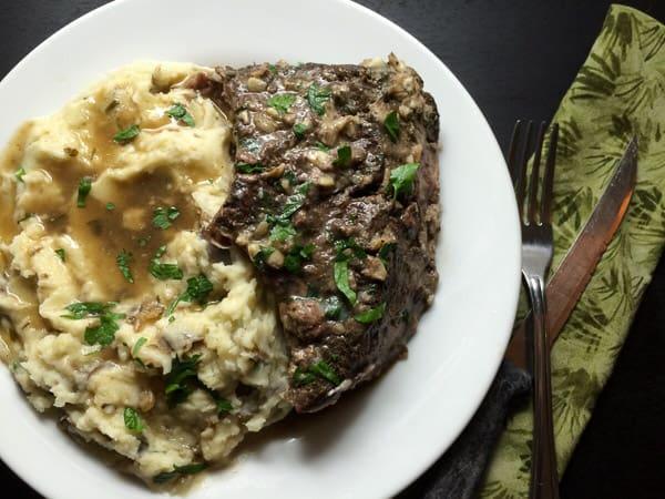 Louisiana Garlic Stuffed Beef Pot Roast