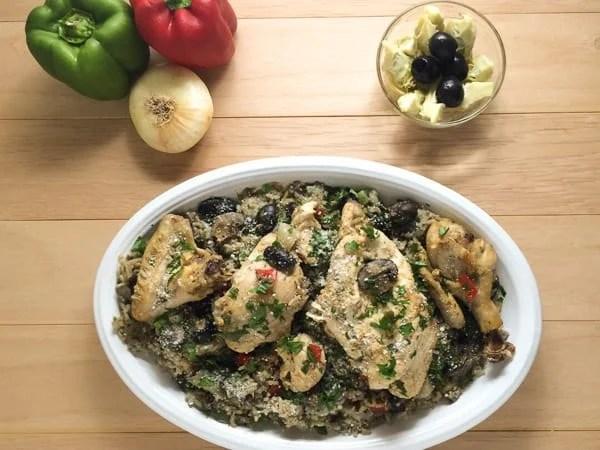Mediterranean baked chicken and rice