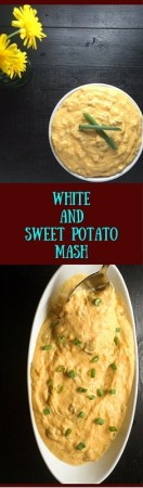 Gluten free White and Sweet Potato Mash is an updated spin on a classic American comfort food. https://asprinklingofcayenne.com/white-and-sweet-potato-mash/