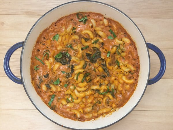 Four Cheese, Beef and Spinach Pasta Bake