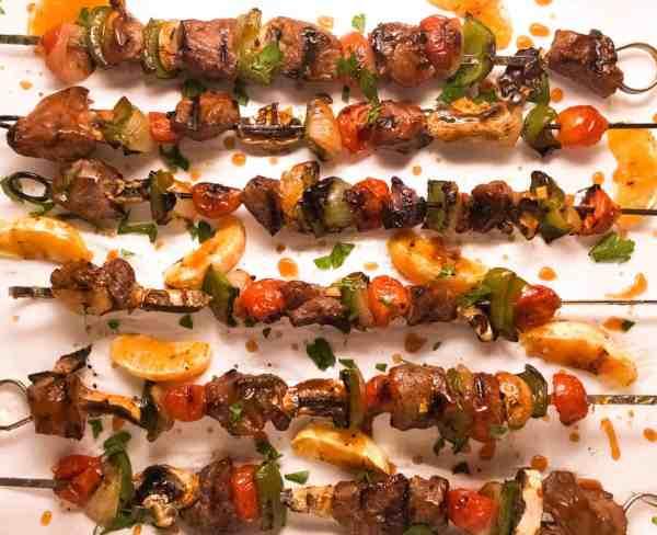 Grilled Orange Beef Kabobs | http://asprinklingofcayenne.com