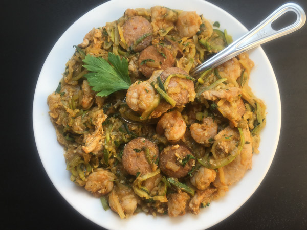 Creole pastalaya with shrimp, chicken and sausage