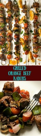 Gluten free and low carb, these Grilled Orange Beef Kabobs are perfect for outdoor entertaining.http://asprinklingofcayenne.com/grilled-orange-beef-kabobs/