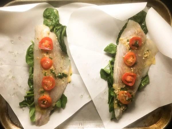 Preparation for Louisiana Redfish in Parchment Paper   http://asprinklingofcayenne.com