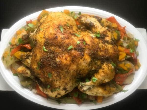 Paleo Cajun Slow Cooked Whole Chicken | https://asprinklingofcayenne.com