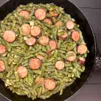 Cajun Smothered Green Beans With Sausage