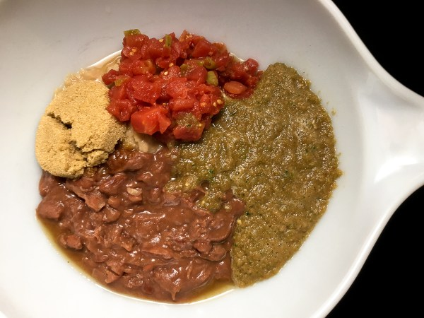 Rotel, brown sugar, and Blue Runner red and white beans for Creole Red & White Bean Dip from A Sprinkling of Cayenne. | https://asprinklingofcayenne.com