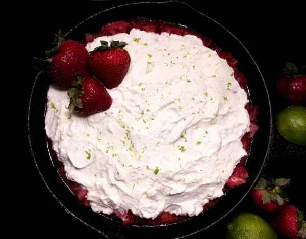 Gluten Free Strawberry Cornbread Poke Cake from A Sprinkling of Cayenne. | http://asprinklingofcayenne.com