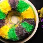 Blueberry Cream Cheese Gluten Free King Cake Bundt Cake | https://asprinklingofcayenne.com