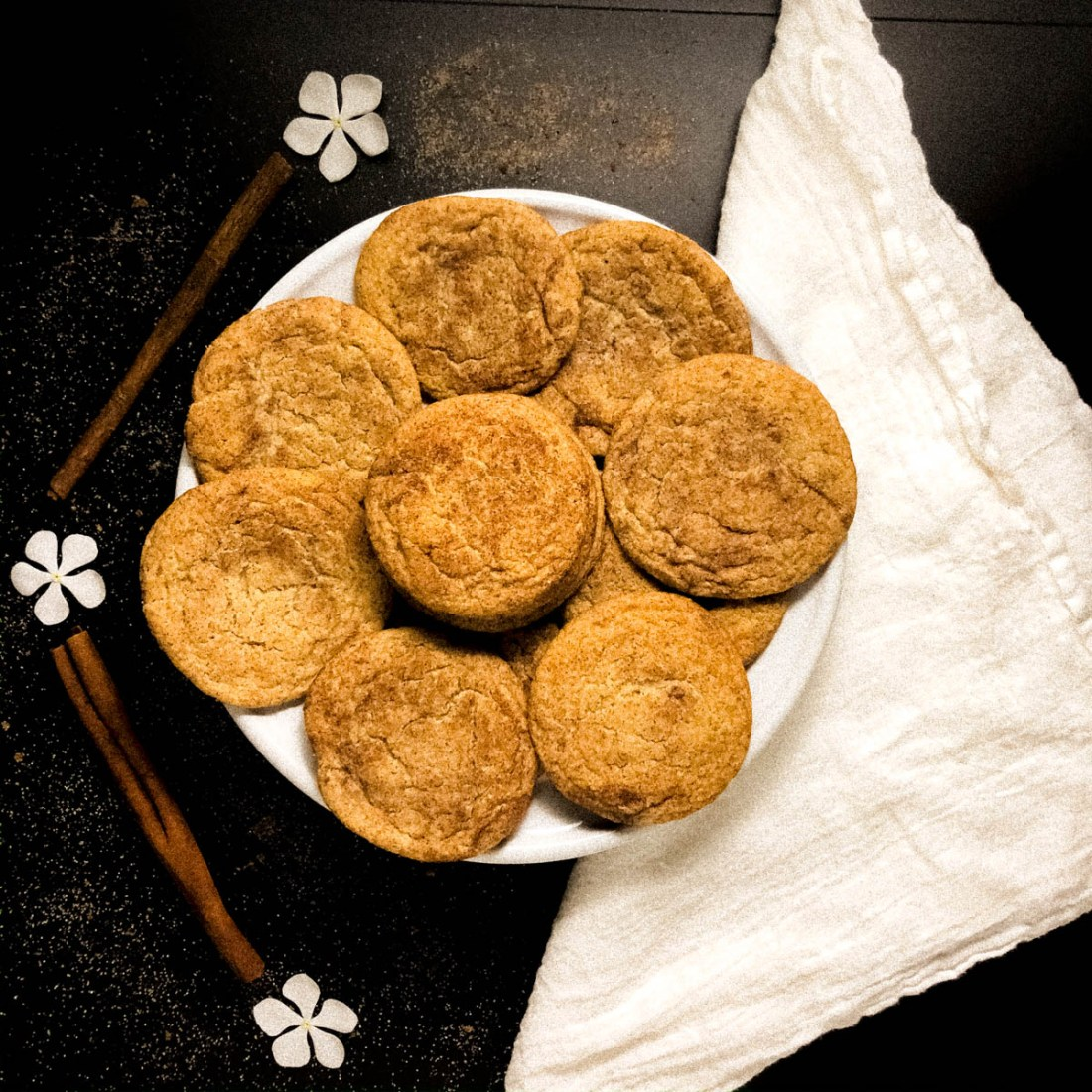 Square shot of Best Ever Gluten Free Soft Snickerdoodles Cookies