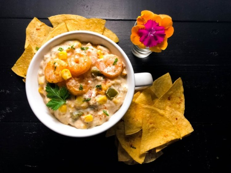 Gluten Free Cajun Shrimp and Corn Dip
