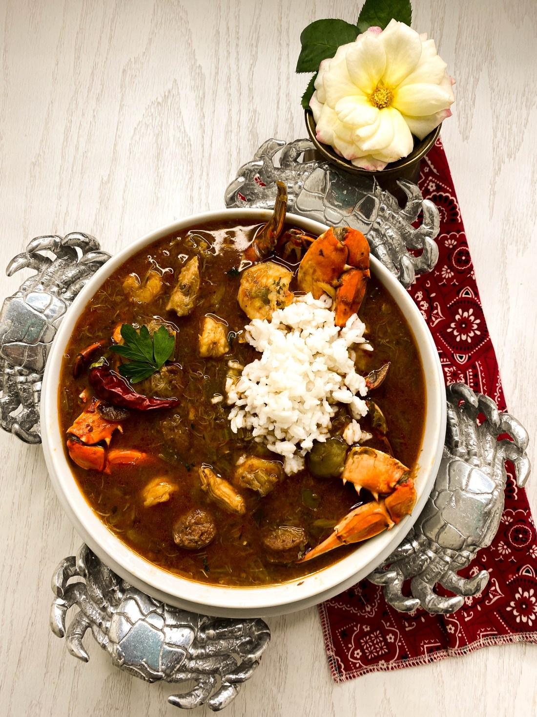 Grain & Gluten Free Creole Gumbo With Rice