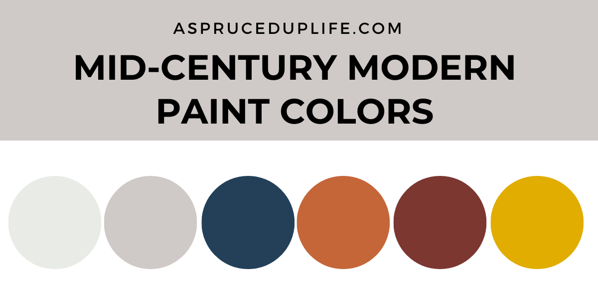 Mid Century Modern Paint Colors A Spruced Up Life
