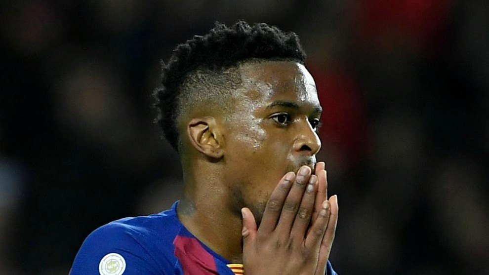 Semedo, dans un match contre Levante au Camp Nou