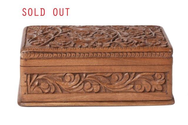 walnut wood jewelry box $ 125 00 beautifully hand carved box made of ...