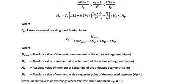 Slender Bars LTB Calculation