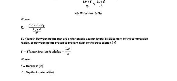 Slender Bar LTB Calculation