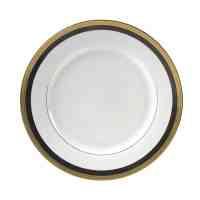 Plate, Black/Gold Dinner | All Seasons Rent All