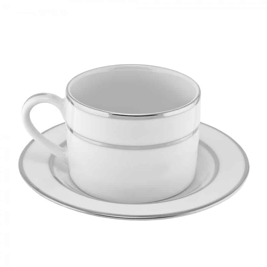 coffee cup white silver