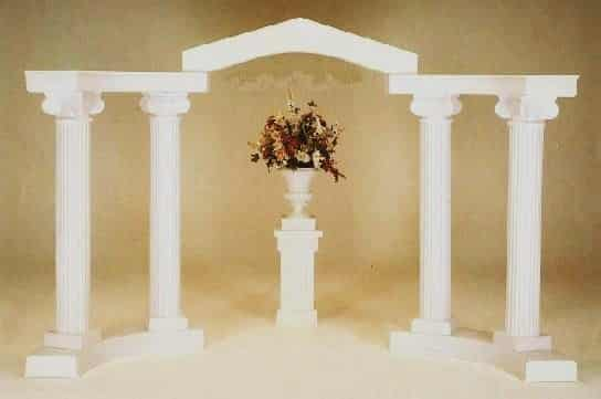 Rent A White Colonnade Arch For Your Wedding At All