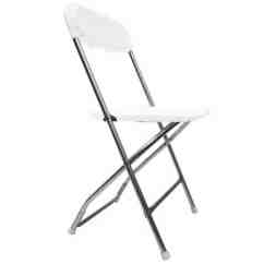 Folding Chair Legs Fisher Price Booster Rent Some White Chairs For Your Next Party At All Seasons With Chrome