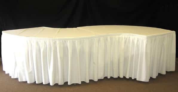 How to Cover a Serpentine Table  National Event Supply