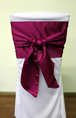 dark red chair sashes lightweight folding in a bag asr linen rentals | covers, sashes, and more!