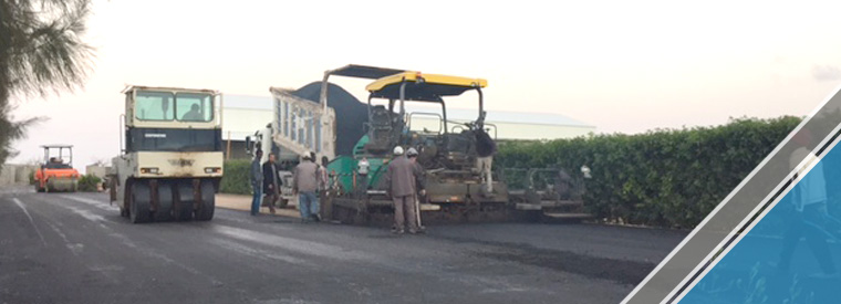 The end of the third part of the asphalt work (10)