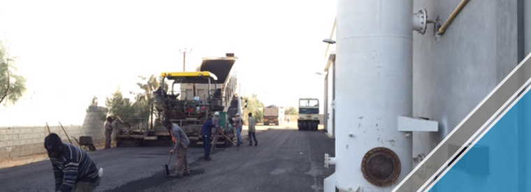 The end of the third part of the asphalt work (3)