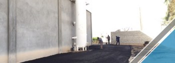 The end of the third part of the asphalt work (7)