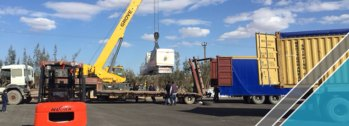The arrival of last shipment of factory equipments (5)