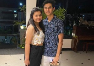 Nandil with his sister