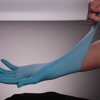 Blue Nitrile glove