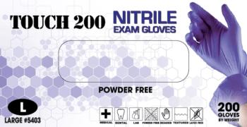 Emerald Touch 200 powder-free exam 3.5 mil 2000cs  200/box, 2000/case