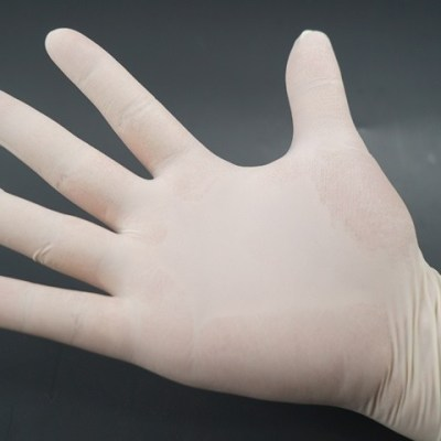 Latex examination gloves, powder free, White, NEST