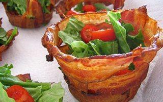 bacon edible bowl