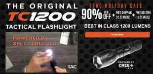 TC1200 Tactical Flashlight High Performance Flashlight 90% Off