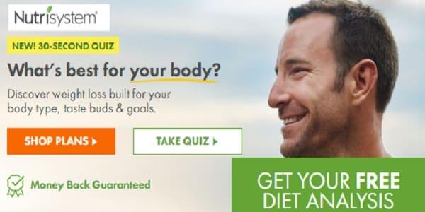 Free Diet Analysis Nutrisystem Men