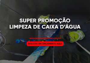 promoção Limpeza de caixa d'água na Lapa