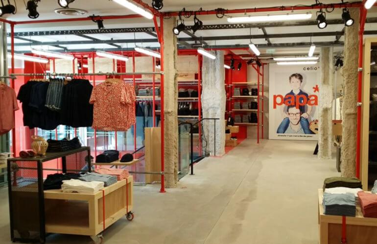 magasin de style industriel