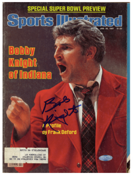Image result for bob knight autographed photo