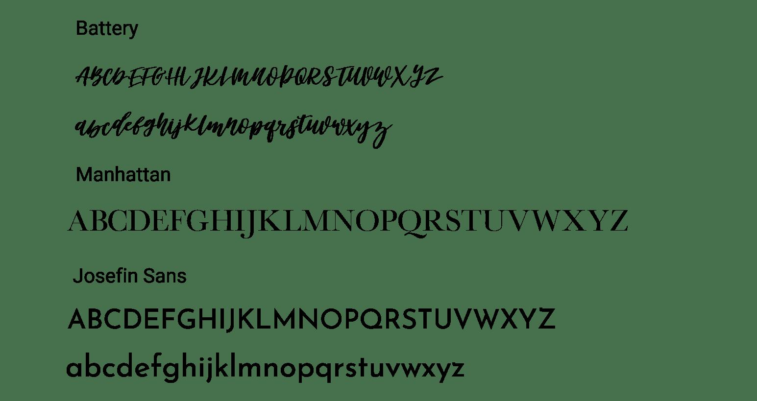 Assorted Fonts