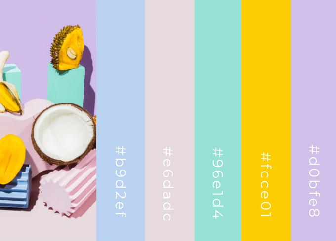 Modern Pastel Color Palette