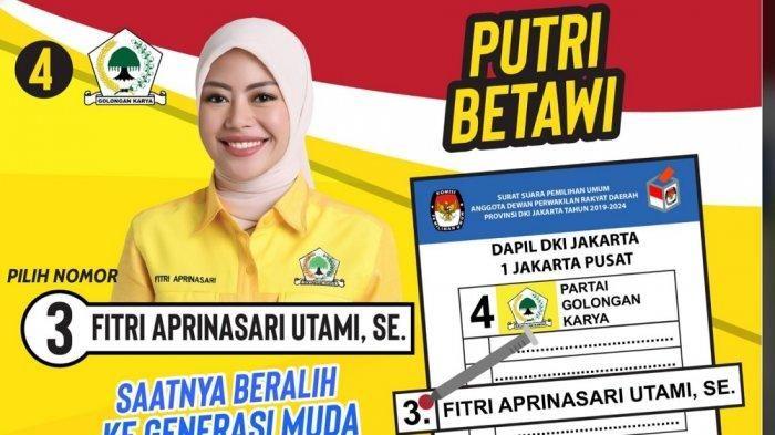 Poster candidate Fitri Aprinasari Utami