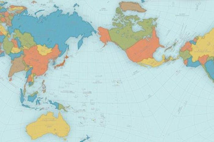 Indonesia terletak diantara benua daratan benua asia dan australia serta samudra pasifik dan juga hindia. Jarang Diketahui Inilah Arti Warna Warna Dalam Gambar Peta Dunia Semua Halaman Intisari