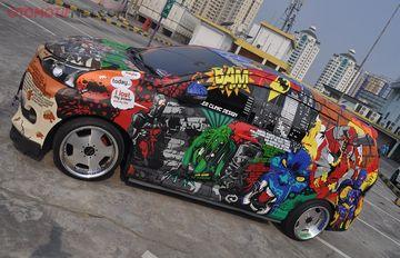 berat grand new veloz avanza vs mitsubishi xpander kelas pintu lambo interior bikin betah total ada 13 karakter superhero yang nempel di mobil ini
